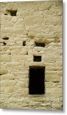 Window Opening In Old Brick Adobe Wall Metal Print by Ned Frisk