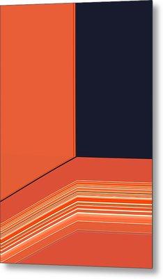 Window Seat Metal Print by Bonnie Bruno