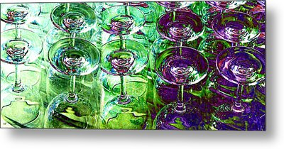 Wine And Dine Metal Print by Will Borden
