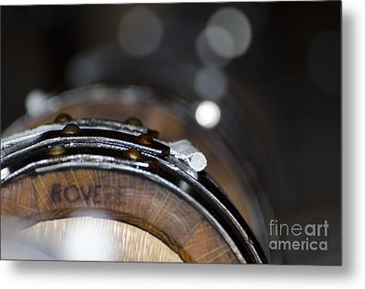 Wine Barrels In Oak Metal Print by Mats Silvan