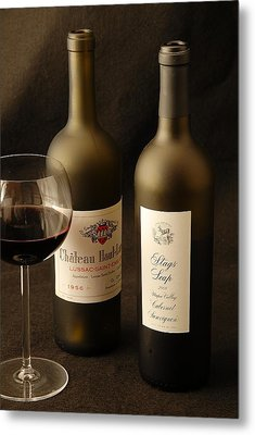 Wine Bottles Metal Print by David Campione