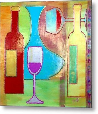 Wine Tasting Metal Print by Char Swift