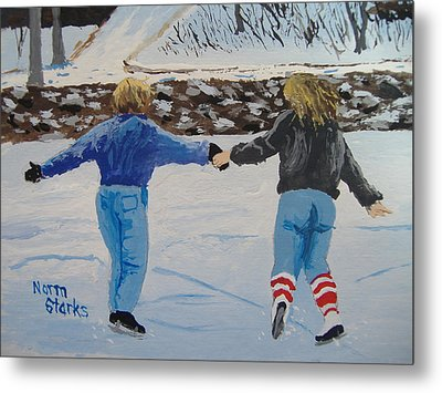Winter Fun Metal Print by Norm Starks