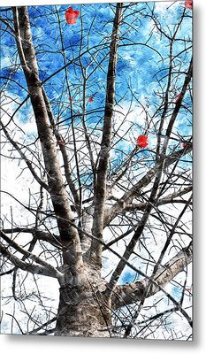 Winter Is Near Metal Print by Andee Design