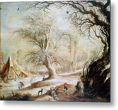 'winter Landscape', 17th Century, Painting Metal Print by Photos.com