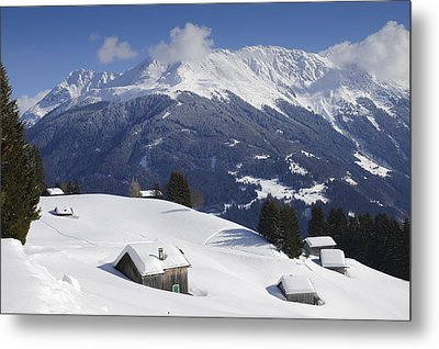 Winter Landscape In The Mountains Metal Print by Matthias Hauser