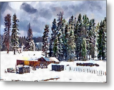 Winter Seclusion Metal Print by Jeff Kolker