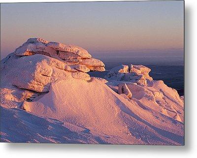 Winter View Of The Top Of Brocken Metal Print by Norbert Rosing
