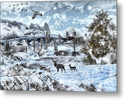 Winter Wonderland Metal Print by Lourry Legarde