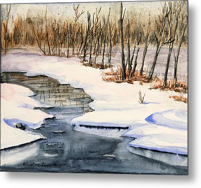 Winters Delight Metal Print by Kristine Plum