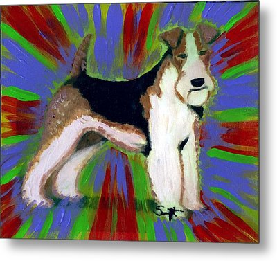 Wire Fox Terrier Metal Print by Char Swift