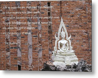 Wisdom And Virtue Metal Print by Gregory Smith