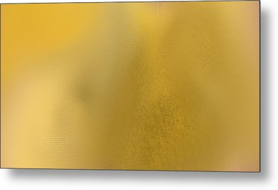 Wise Golden Yellow Metal Print by Rosana Ortiz