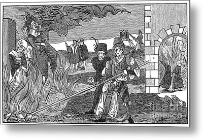 Witch Burning, 1555 Metal Print by Granger
