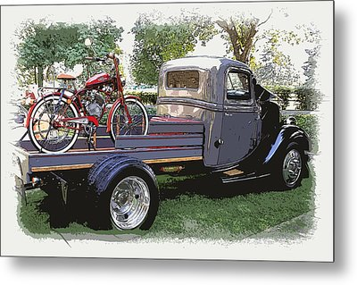 Wizzer Cycle At The Hot Rod Show Metal Print by Steve McKinzie
