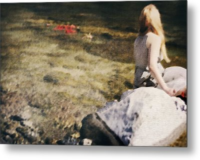 Woman In A River Metal Print by Joana Kruse