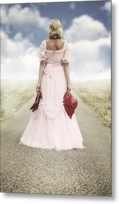 Woman On A Street Metal Print by Joana Kruse