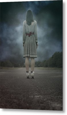 Woman On Street Metal Print by Joana Kruse