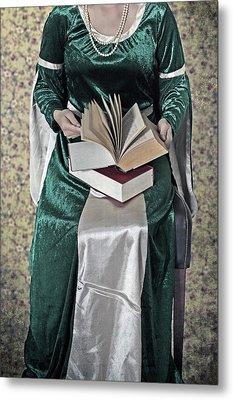 Woman With A Book Metal Print by Joana Kruse