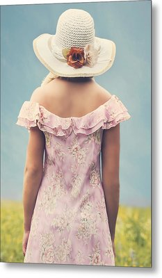 Woman With Hat Metal Print by Joana Kruse