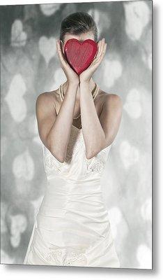 Woman With Heart Metal Print by Joana Kruse