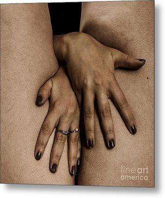 Woman's Hands Metal Print by Pierre-jean Grouille