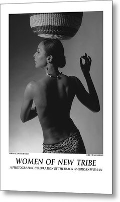 Women Of A New Tribe - Veronica With Basket Metal Print by Jerry Taliaferro