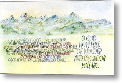 Wonder Splendor II Metal Print by Judy Dodds