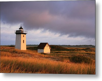 Wood End Lighthouse Landscape Metal Print by Roupen  Baker