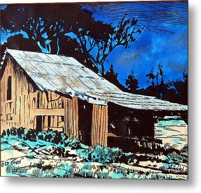 Wood Shed Metal Print by Mike Holder
