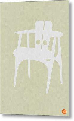 Wooden Chair Metal Print by Naxart Studio