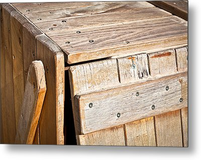 Wooden Crate Metal Print by Tom Gowanlock
