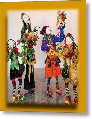 Wooden People Metal Print by Nataly Fomina