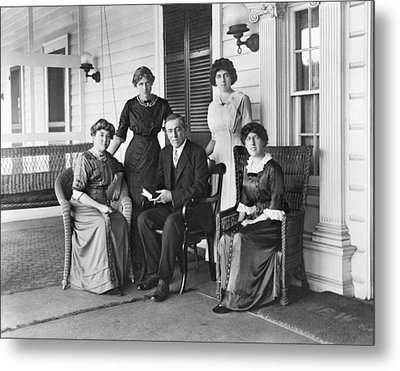 Woodrow Wilson With His First Wife Metal Print by Everett