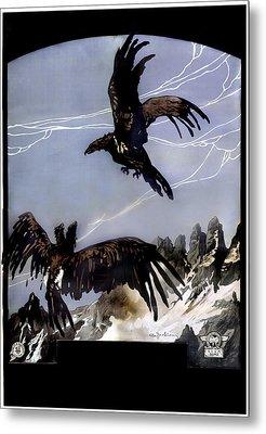 World War I, Italian Eagle Attacking Metal Print by Everett