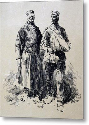 World War I, Poster Shows Wounded Metal Print by Everett