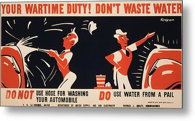 World War II, Poster For A New York Metal Print by Everett