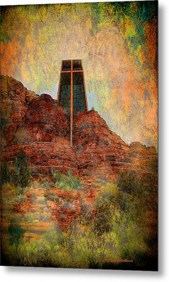 Worship In Sedona Metal Print by Dale Stillman