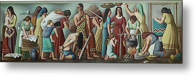 Wpa Mural. Contemporary Justice Metal Print by Everett