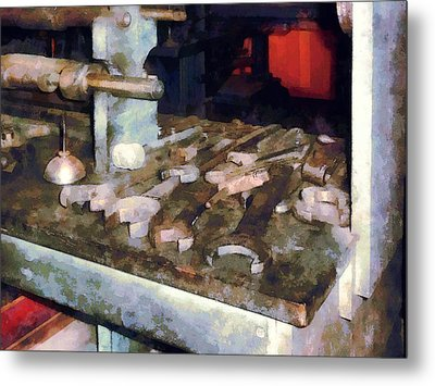 Wrenches And Oil Can Metal Print by Susan Savad