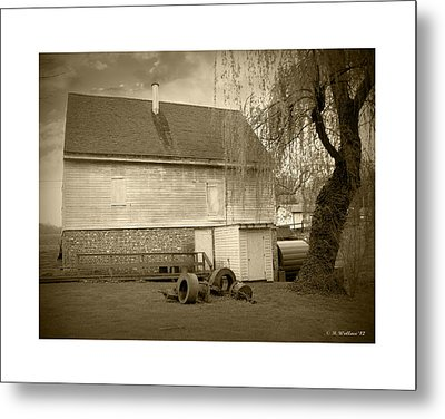 Wye Mill - Sepia Metal Print by Brian Wallace
