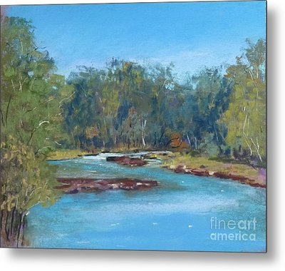 Yarra River Warrandyte Metal Print by Nadine Kelly