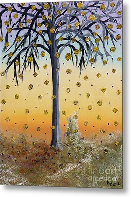 Yellow-blossomed Wishing Tree Metal Print by Alys Caviness-Gober
