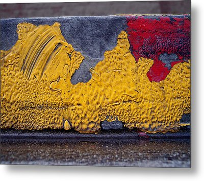 Yellow Brushes Metal Print by Ludmil Dimitrov
