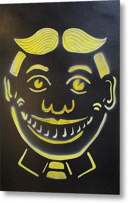 Yellow On Black Tillie Metal Print by Patricia Arroyo