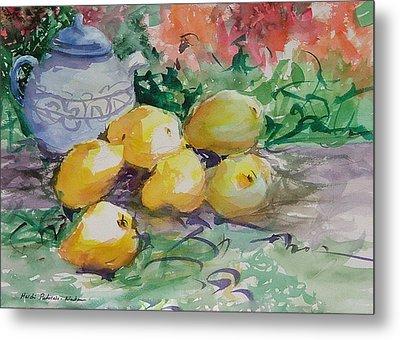 Yellow Pears Metal Print by Heidi Patricio-Nadon