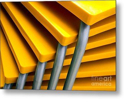 Yellow Tables Metal Print by Carlos Caetano