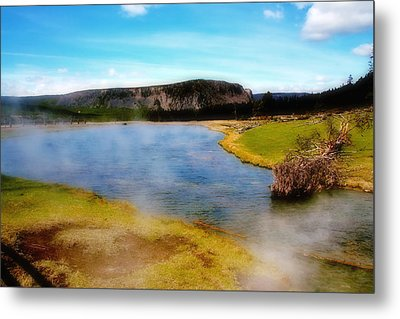 Yellowstone Landscape Metal Print by Ellen Heaverlo