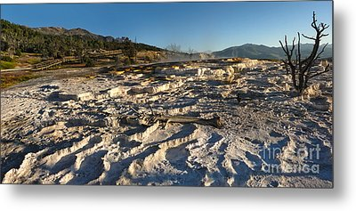 Yellowstone National Park - Minerva Terrace - 07 Metal Print by Gregory Dyer