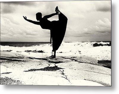 Yoga Balance Metal Print by Stelios Kleanthous